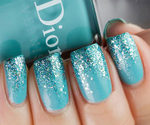 Underwater jellyfish and octopus nail art tutorial all time treasured turquoise effect prinsesfo Image collections