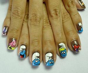 Nail art designs tutorials and games cute smurfy nails prinsesfo Choice Image