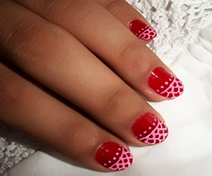 Red nail art for small nails nail art red nail art for small nails prinsesfo Images