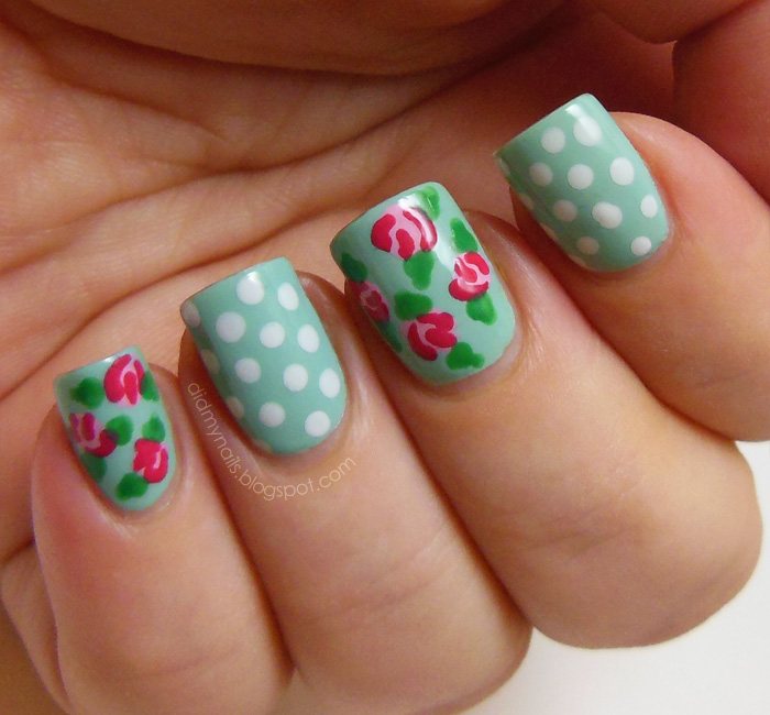 Alternate Polka Dots with Floral Patterns