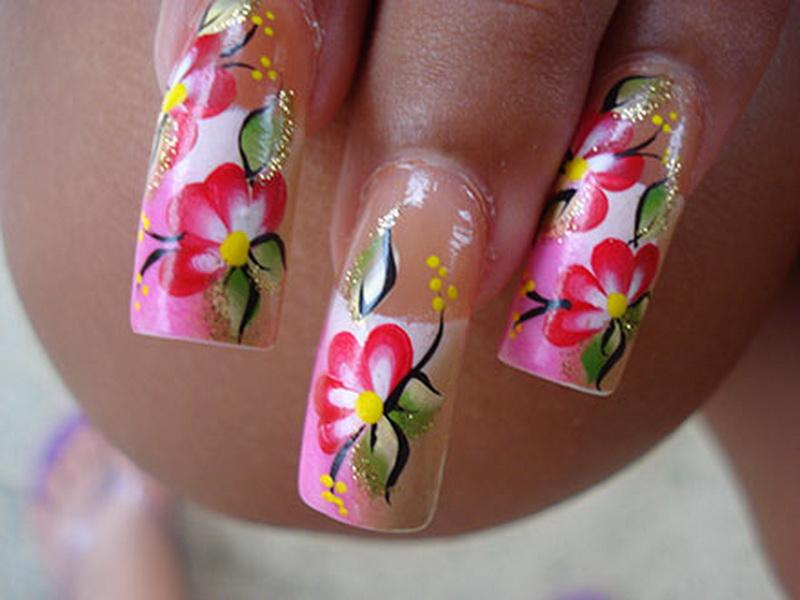Blossoming Flower Stickers for Medium Nails