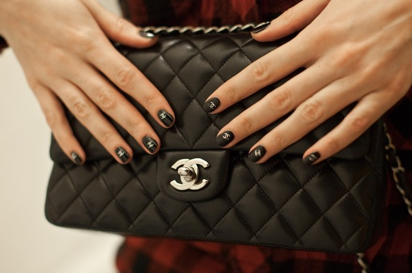 Carbon Black Chanel Look