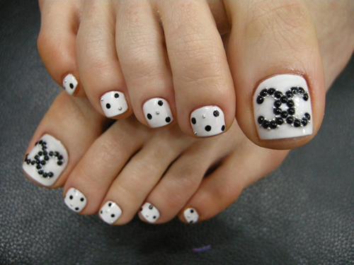 Chanel Art For Your Toes Nail Art