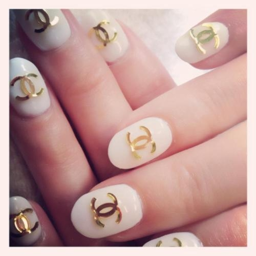 Chanel Brand Chic Design Nail Art