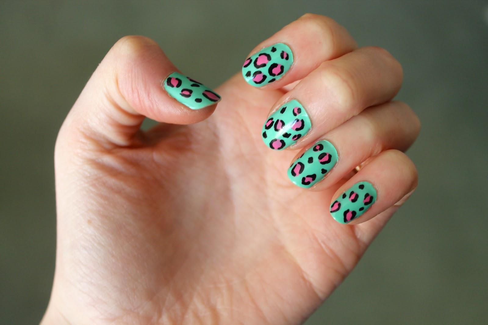 Cheetah Print With A Colourful Twist Nail Art