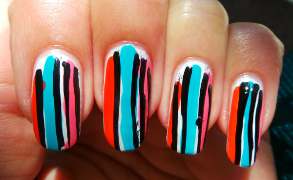 Colorful Vertical Stripes