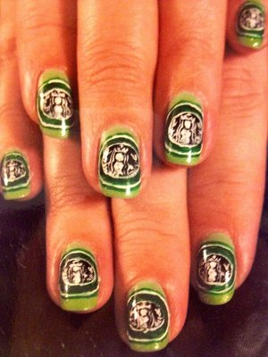 Elite Starbucks Nail Elegance Nail Art