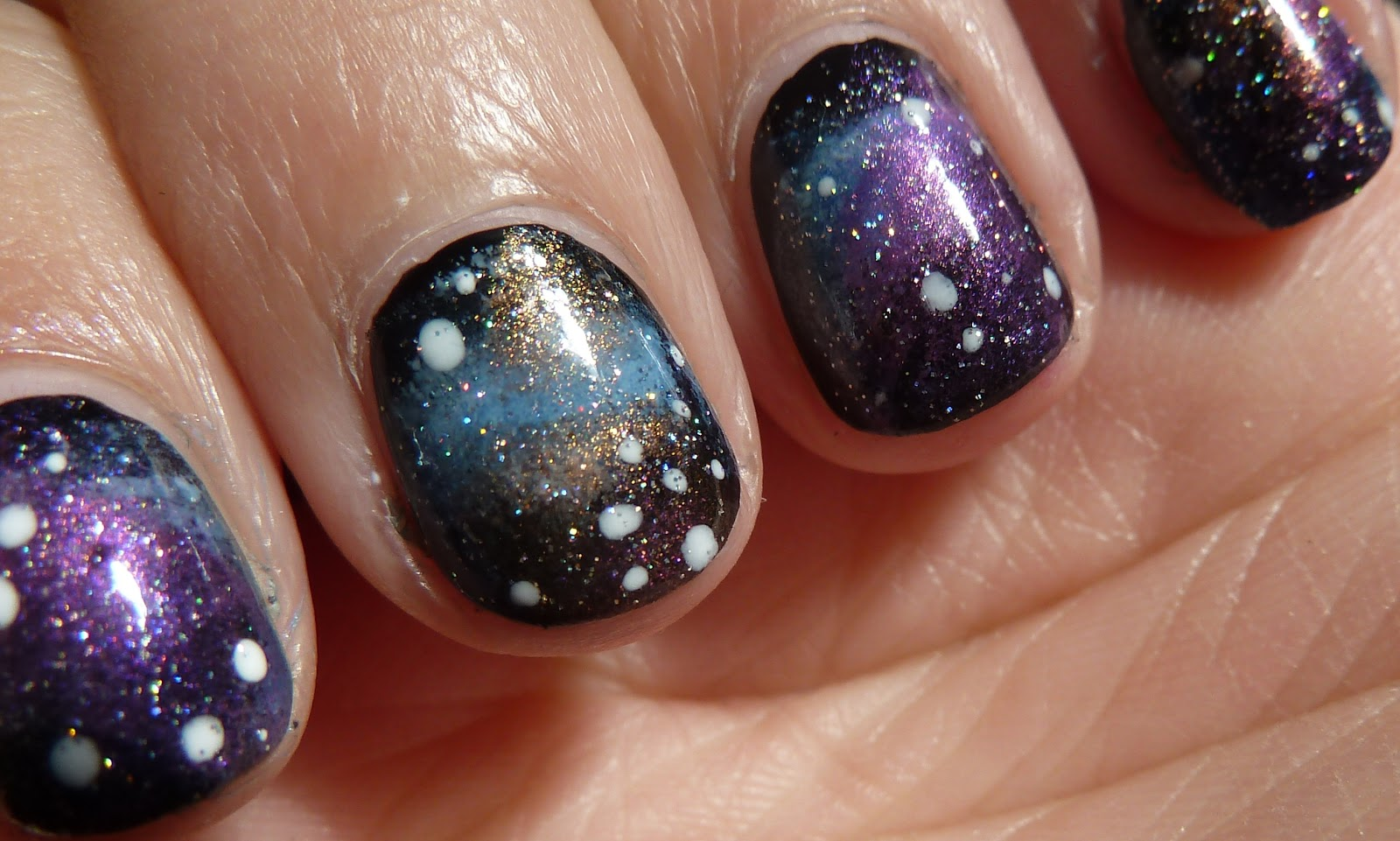 Galaxy with Twinkling Stars