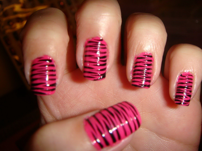 Pinky Zebra Striped Art