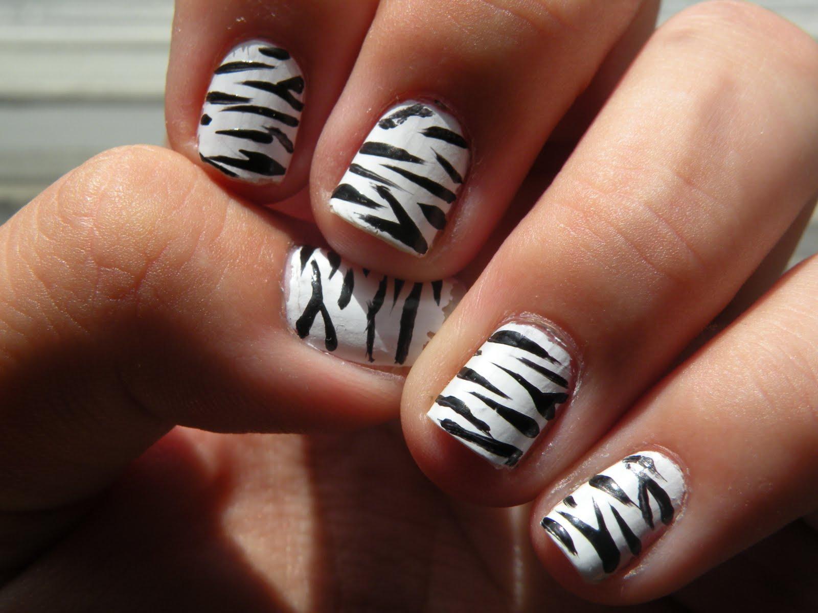 Random black stripes on white background nail art random black stripes on white background prinsesfo Images