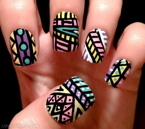 Ravishing Tribal Colorful Triangles