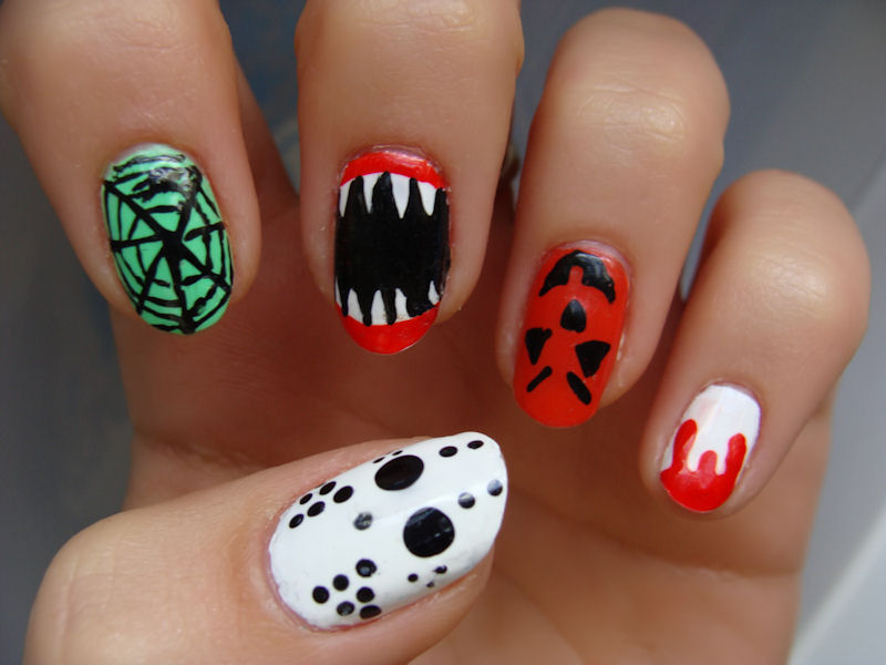 Sharp Teeth or Spider Web You Choose - Nail Art