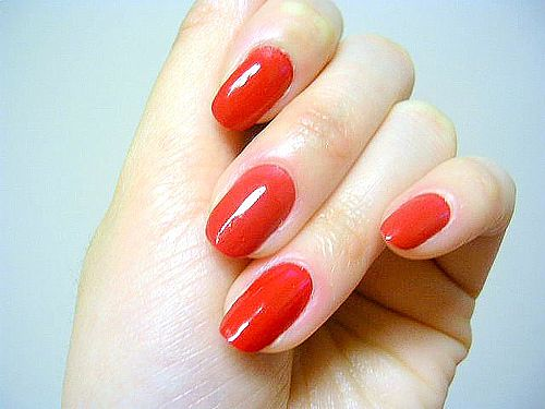 Trending Red on Beautiful Long Nails